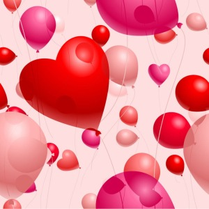 Romantic-Heart-Shaped-Balloons-Valentines-Day-Vector-Illustration
